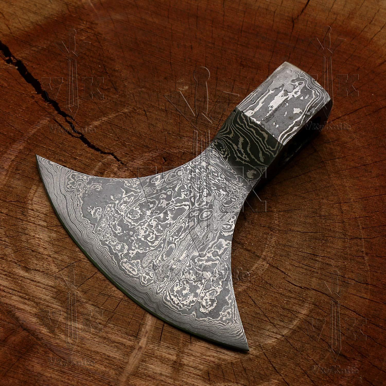 Amazon.com: Cabeza de trama de acero de Damasco hecha a mano ...