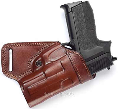 Glock 42 SOB (Small of Back) Leather Belt Holster