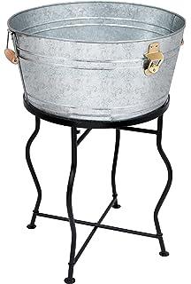 Amazoncom Artland Oasis Party Tub with Stand Galvanized Metal