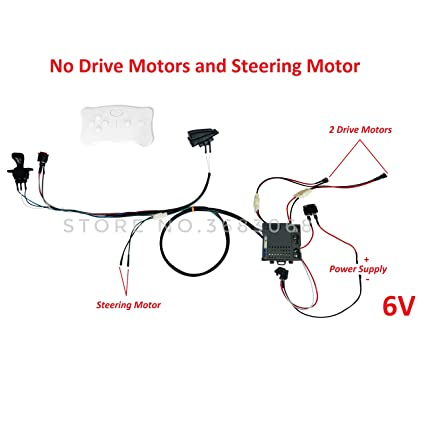 amazon com e fast kids ride on car 6 volt diy harness 12 volt wiring power wheel electric toy car wiring diagram kids ride on cars 12v diy harness