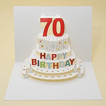 Forever Handmade Pop Up Karte Zum 70. Geburtstag   Eine Hochwertige Und  Originelle Geburtstagskarte,