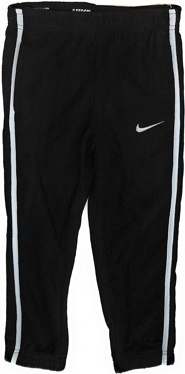 NIKE Boys Therma Fit Warm Up Fleece Sweat Track Pants, Black, 7: Clothing