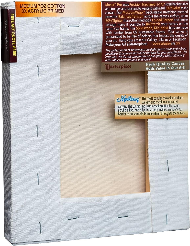 Cotton 10.5oz 3X Monterey Most Popular Masterpiece Artist Canvas MM-4242 Monet Pro 1-1//2 Deep 42 x 42