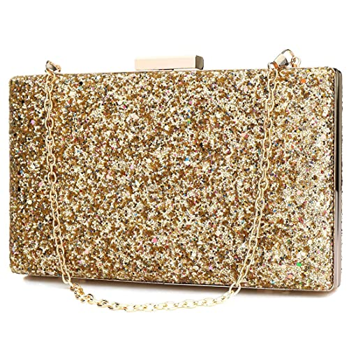 YYW Evening Bag - Cartera de mano para mujer, color Dorado, talla Talla Unica: Amazon.es: Zapatos y complementos