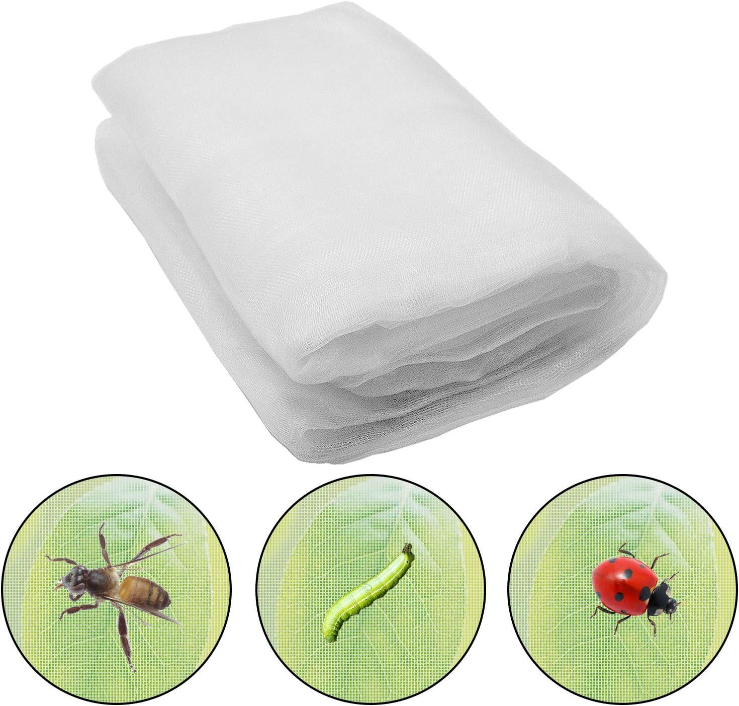Alpurple 2 Packs Insect Bird Barrier Netting Mesh- 5.0 X 9.8 Feet Garden Bug Netting Plant Cover for Protect Plant Fruits Flower