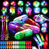 78PCs LED Light Up Toy Party Favors Glow In The Dark,Party Supplies Bulk For Adult Kids Birthday Halloween With 50 Finger Lig