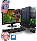 ADMI GAMING PC PACKAGE: Powerful Desktop Computer, 21.5 Inch 1080p Monitor, Keyboard & Mouse Set (PC SPEC: AMD A6-6400K 4.1GHz Dual Core Processor with Radeon HD 8470D Graphics, USB 3.0, 500W PSU, 1TB Hard Drive, 8GB RAM, 24 x DVDRW Drive, Wifi, Goblin Gaming Case, No Operating System)