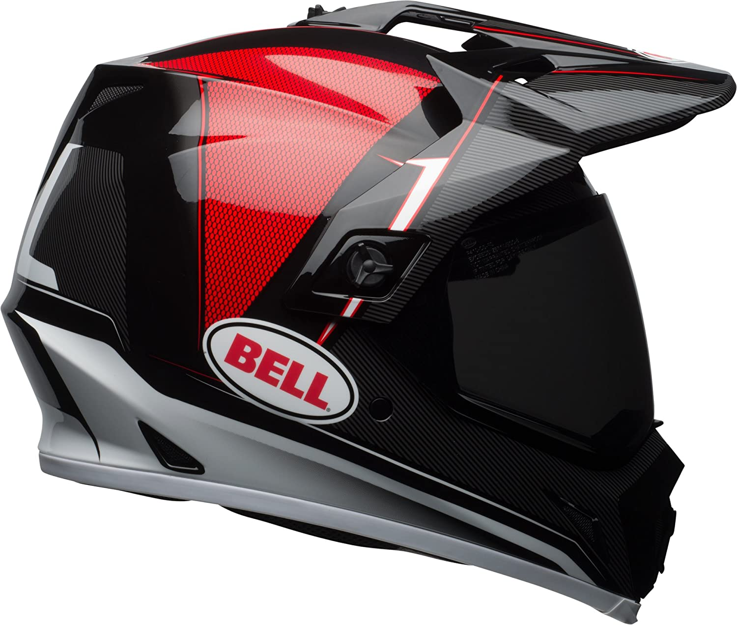 Amazon.com: Bell MX-9 Adventure MIPS Off-Road Motorcycle Helmet (Gloss Black/Red/White Berm, X-Large): Automotive