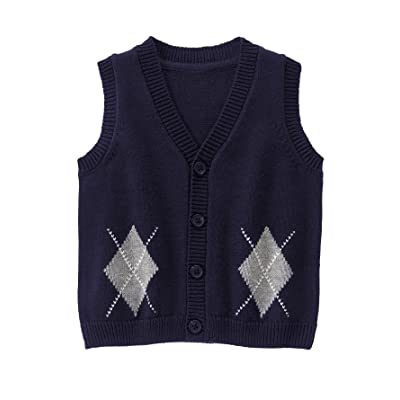 Gymboree Baby Boy Navy Blue Argyle Sweater Vest