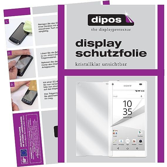 dipos I 6X Schutzfolie klar passend für Sony Xperia Z5 Compact Folie Displayschutzfolie