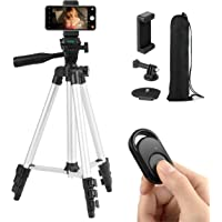 Coching Phone Tripod, 42 Inch 106cm Extendable Lightweight Tripod Stand with Cell Phone Mount Holder & Smartphone…