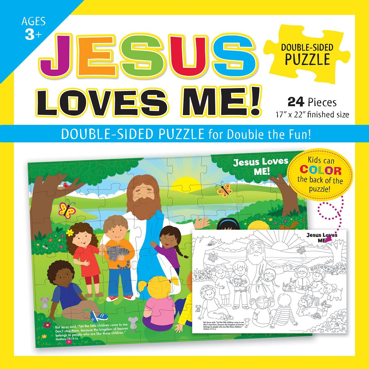 Jesus Loves Me Double-Sided Puzzle: Kim Mitzo Thompson, Karen Mitzo ...