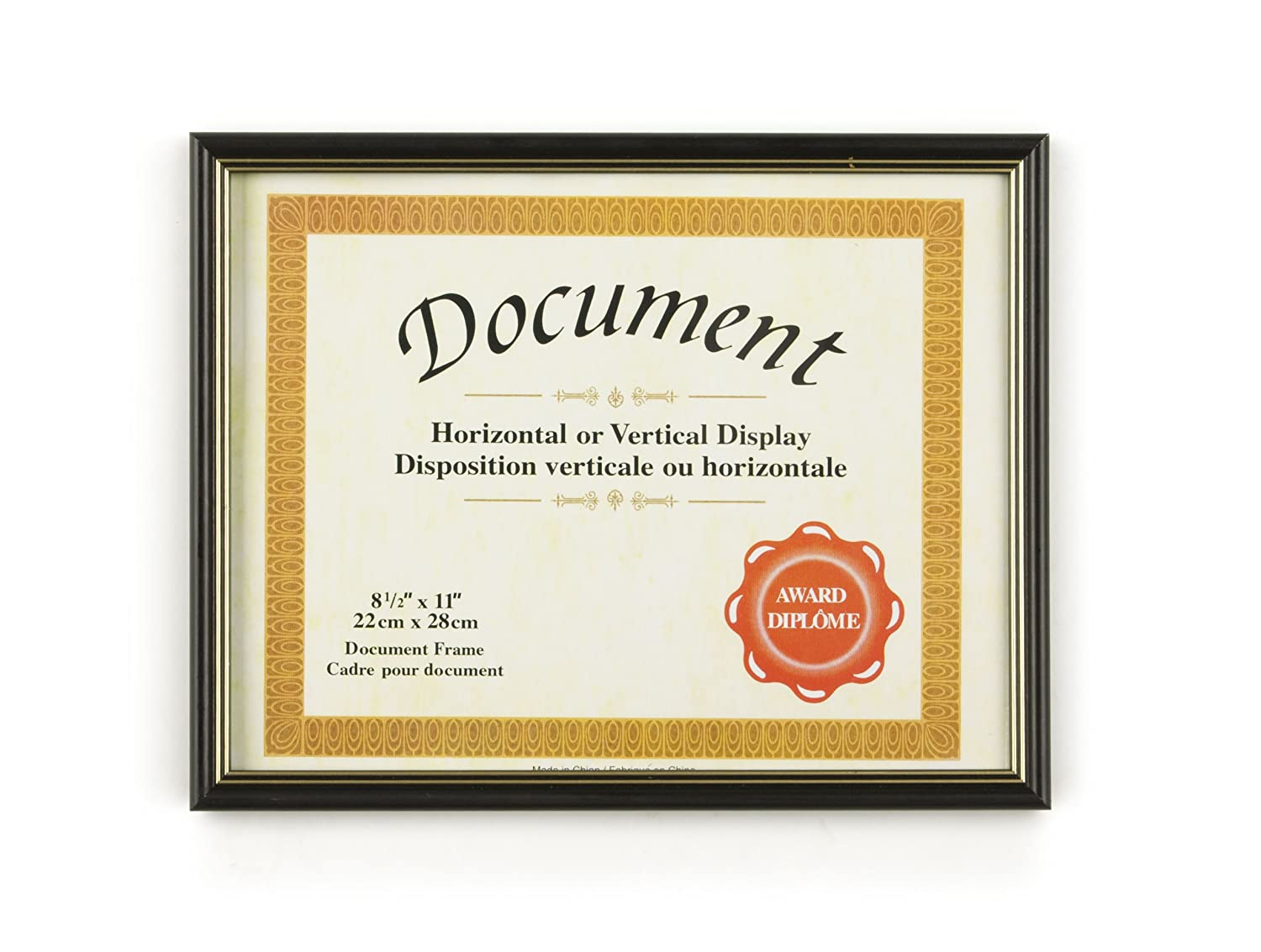 Amazon.com : Displays2go Document Frames for 8.5 x 11 Inches Prints ...