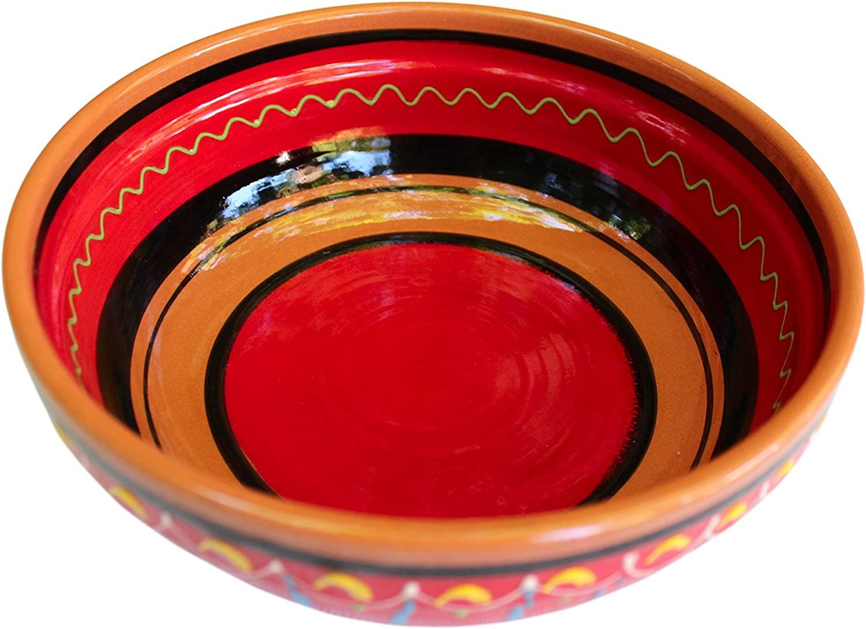 Cactus Canyon Ceramics Spanish Terracotta Deep Serving Dish, Red
