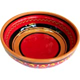 Terracotta Red, Deep Dish - Hand Painted From Spain