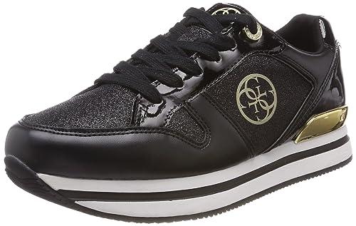 Guess Footwear Active Lady, Zapatillas para Mujer, Negro (Black Black), 37 EU
