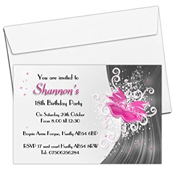10 personalised 18th 21st 30th birthday party invitations invites