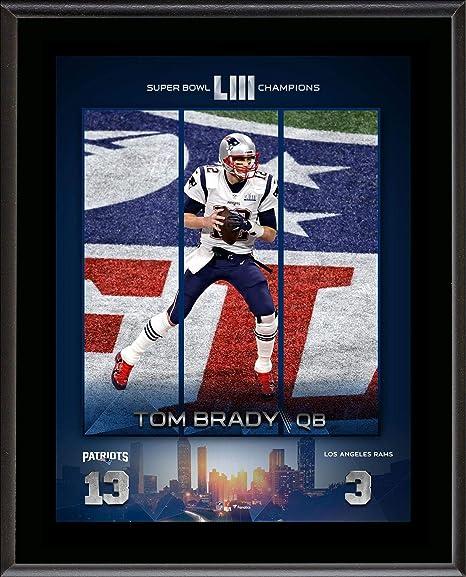 a72ed6c92e5 Amazon.com: Tom Brady New England Patriots 10.5'' x 13'' Super Bowl ...