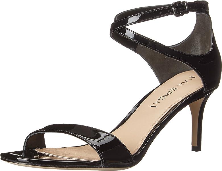 01a5af04429 Via Spiga Women s Leesa Heeled Sandal Black Patent 5 ...