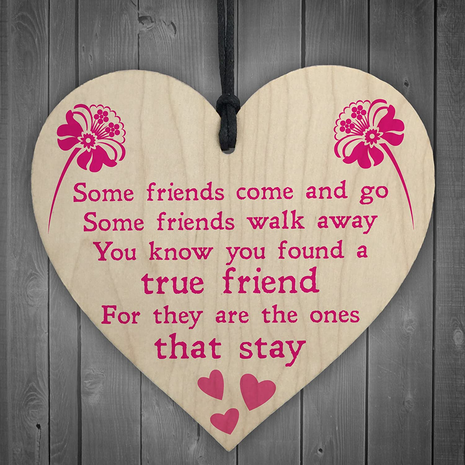 Family Etc/' Friends Wood Hanging Shabby Chic Love Heart /'Love Home Wine