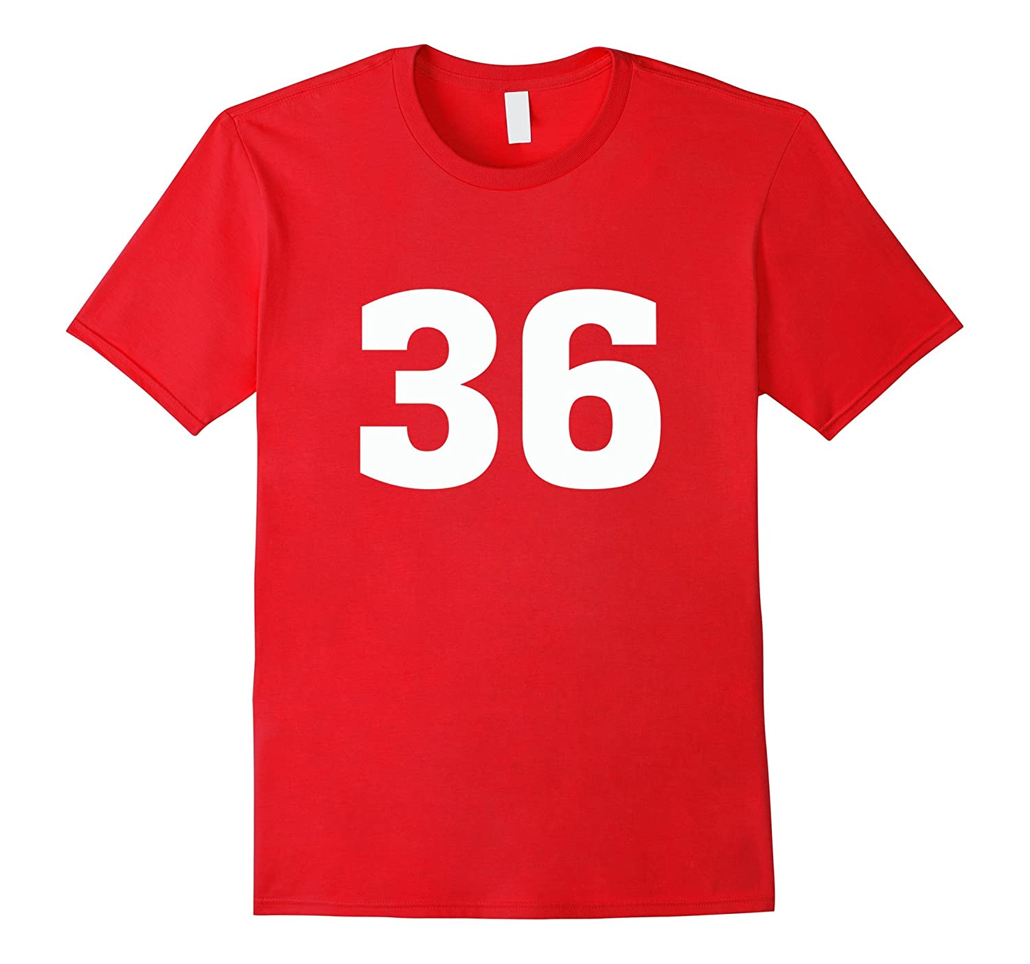 #36 Sports Team Jersey T Shirt - Number Front & Back Player-Art