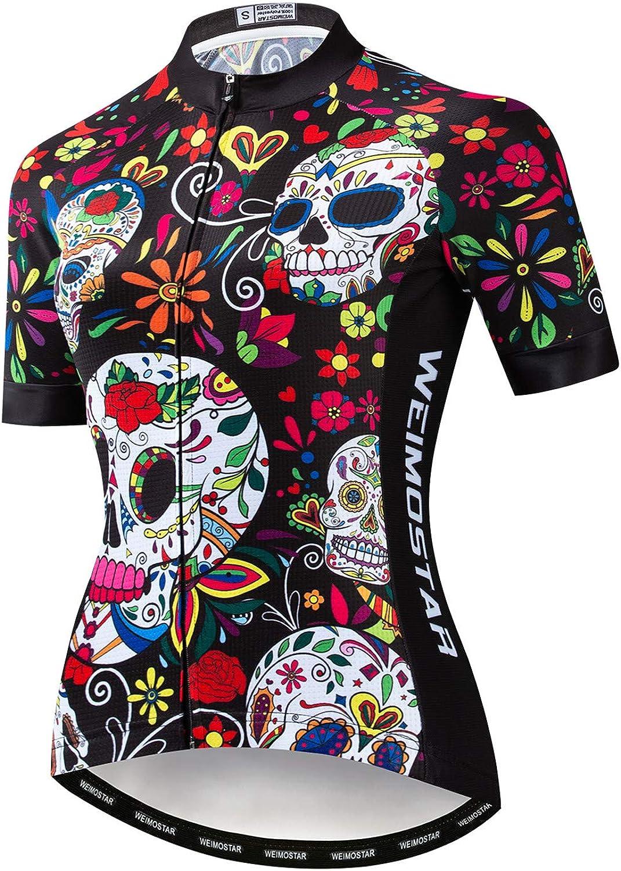 Weimostar - Camiseta de manga corta para mujer, transpirable, para ciclismo de montaña, camiseta de ciclismo