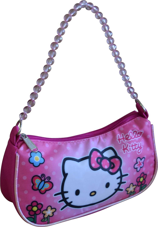 8d797627ec6e Amazon.com  Hello Kitty Sanrio Handbag With Beaded Shoulder Handle  Shoes