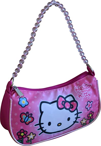 f13f05aba Image Unavailable. Image not available for. Color: Hello Kitty Sanrio  Handbag With Beaded Shoulder Handle