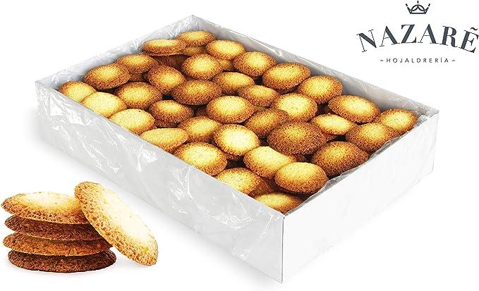 Surtido de Dulces galletas crujientes de coco y mantequilla - Angélicas de coco - Nazaré Hojaldrería - 250 Unidades 1600 gr.: Amazon.es: Alimentación y bebidas