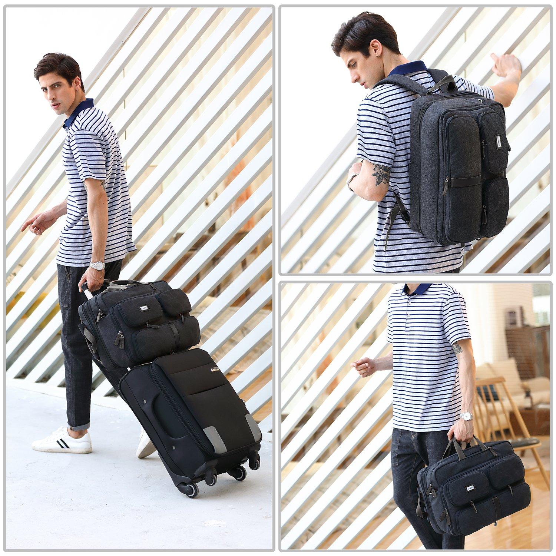 DTBG Laptop Bag Convertible Backpack Messenger Bag Nylon Shoulder Bag Men Women Business Briefcase Travel Rucksack with Side Handbag and Shoulder Strap Fits 17.3 Inches Laptop and Notebook (Black) by DTBG (Image #6)