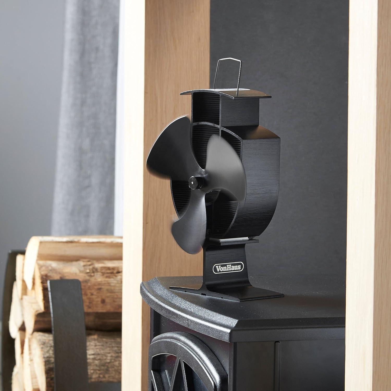 Amazon.com: VonHaus Wood Stove Eco Fan - Heat Powered Ultra Quiet Triple  Blade Fireplace Blower Fan for Efficient Heat Distribution - Black: Home &  Kitchen - Amazon.com: VonHaus Wood Stove Eco Fan - Heat Powered Ultra Quiet