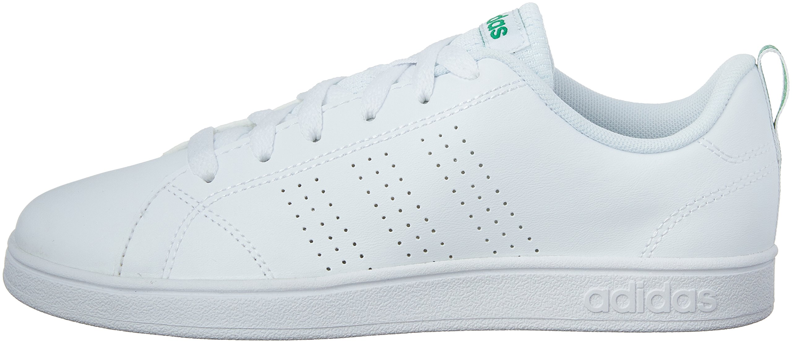 adidas Kids' VS Advantage Clean Sneaker, White/White/Green, 1.5 M US Little Kid by adidas (Image #5)