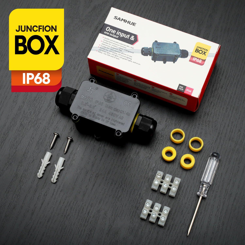Verteilerdose Abzweigdose 2-Wege IP68 Wasserdichte Junction Box ...