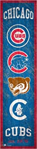 Fan Creations MLB Chicago Cubs Unisex Chicago Cubs Heritage Banner, Team, One Size