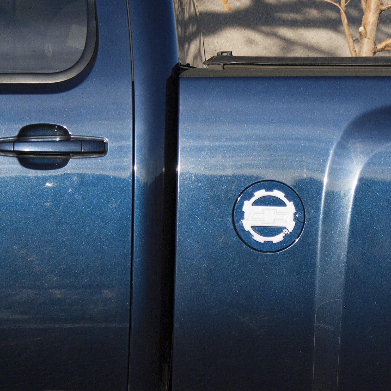 Locking Fuel Door Line Grained Two Toned GMC Logo American Brother Designs ABD-1306GMCLGGBA Black Gloss OEM Paint Sierra