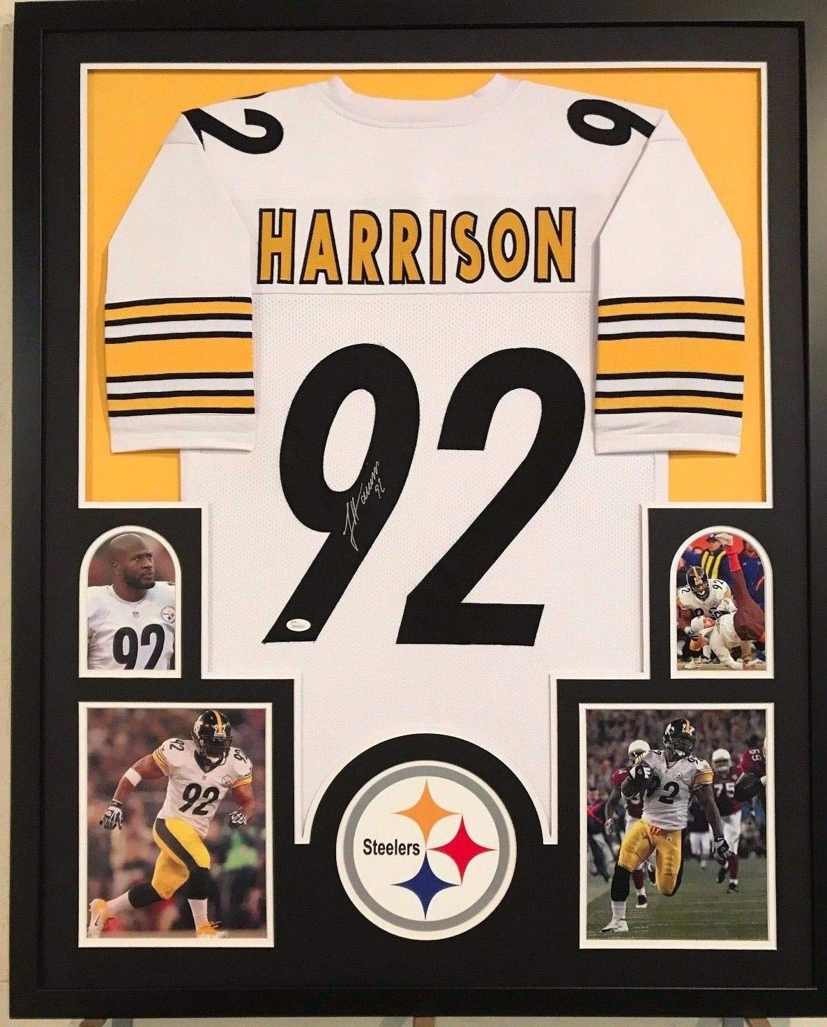 more photos 0aa67 c8e1b Framed James Harrison Autographed Signed Pittsburgh Steelers ...