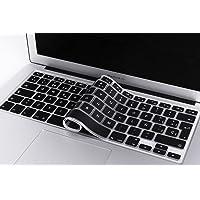 Lenfech Cubre Teclado para MacBook 2012 - 2015 Pro 13 y 15, Air 13/ Retina 15 y Mac Book 2010 - 2017 Air 13. Protector de Teclado en Español de Silicón / Silicona. Protege de Líquidos, Suciedad, Comida y Polvo! Disponible en 13 Colores. (Negro)