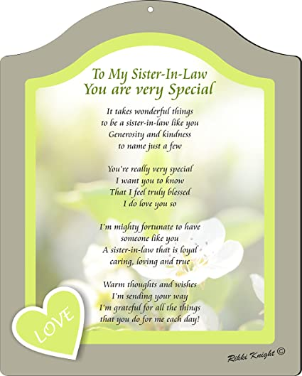 Amazoncom Rikki Knight To My Sister In Law You Are Very Special