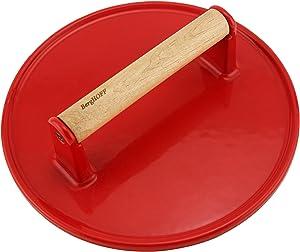 Berghoff Cast Iron Steak Press - Red
