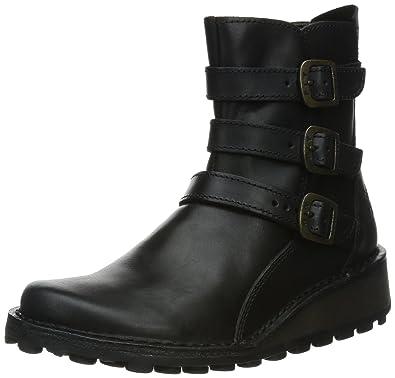 65ef2e9f6e2 Amazon.com | FLY London Myso Black Womens Boots Size 38 EU | Boots