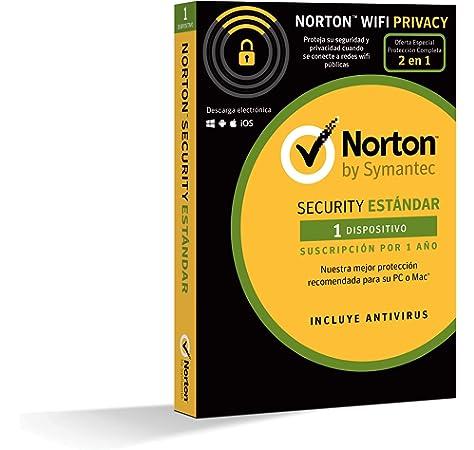 Norton Security Estándar y Wifi Privacy 2018 | 1 dispositivo ...