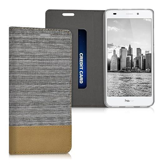 3 opinioni per kwmobile Cover Flip per Huawei Honor 5C- Custodia a libro protettiva per