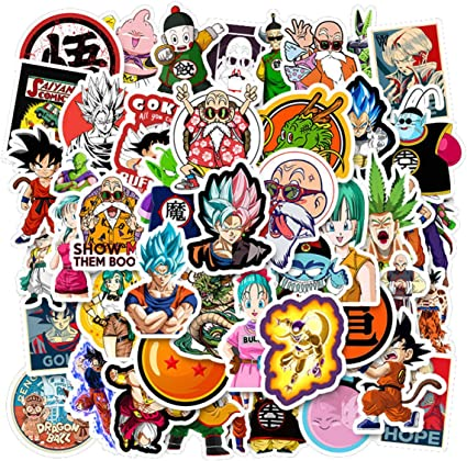 10,5 x 14,5 Dragon Ball STICKERS//ADESIVI cm
