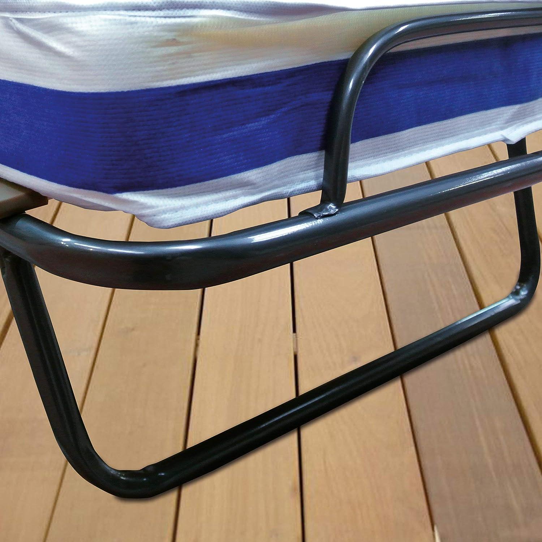 Baldiflex - Cama Plegable con colchón de Waterfoam ortopédico de 10 cm de Altura, somier de láminas, Modelo Dali, 80 x 190 cm