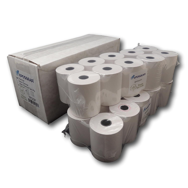 EPOSGEAR® (5 Rolls) 57mm x 50mm 57x50 Thermal Paper Till Cash Register Credit Card PDQ Swipe Machine Receipt Printer Rolls