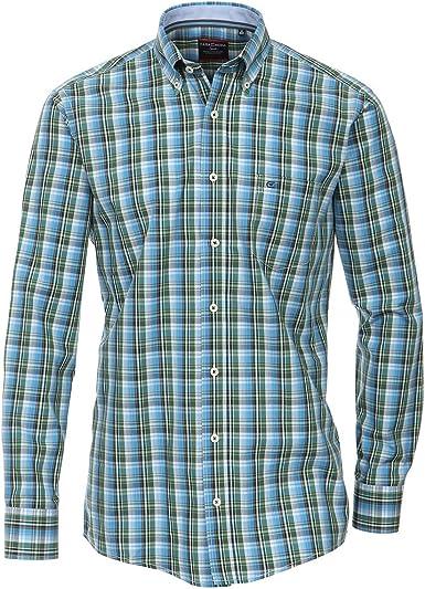 Casamoda XXL Camisa Manga Larga Verde-Azul-Blanco a Cuadros ...