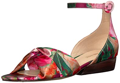 2dbf5ea70fb Nine West Women s LUMSI Sandal Pink Multi Satin 10 ...