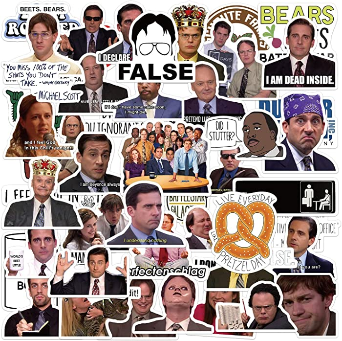 71 PCS The Office Stickers Laptop Stickers for Hydro Flask, Water Bottle Stickers for Kids Teens Adults Girls, The Office Merchandise