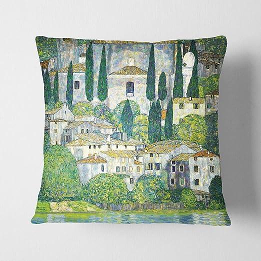 Arty pie cojín y manta funda de almohada Gustav Klimt ...
