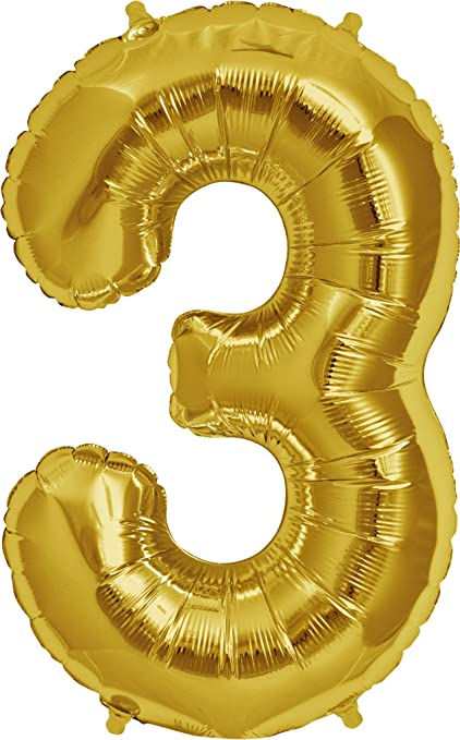 Moon Boat 40quot Gold Mylar 0 9 Number Balloons For Birthday Anniversary Party